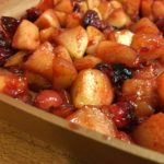 Recipe for CRAN-APPLE COMPOTE WITH MERINGUE AND CARAMEL SAUCE made by Sisters of the Community of Jesus on Cape Cod