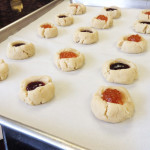 Raspberry and Apricot Almond Shortbread Thumbprint Cookies